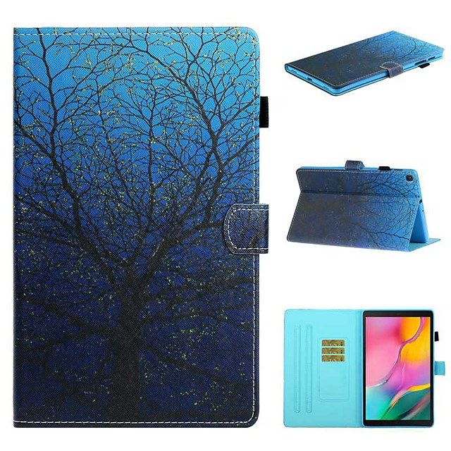 Case For Samsung Galaxy Tab A2 10.5(2018) / Samsung Tab A 10.1(2019)T510 / Samsung Tab A 8.0(2019)T290/295 Card Holder / with Stand / Flip Full Body Cases Tree PU Leather For Galaxy T720
