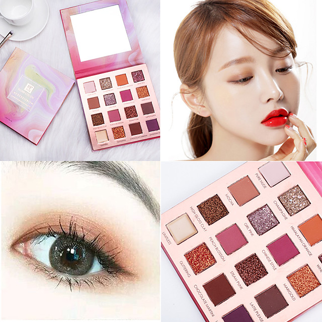 16 Colors Eyeshadow Matte Eye EyeShadow Cream Kits Easy to Carry Easy to Use lasting Long Lasting Natural water-resistant Daily Makeup Halloween Makeup Party Makeup Cosmetic Gift
