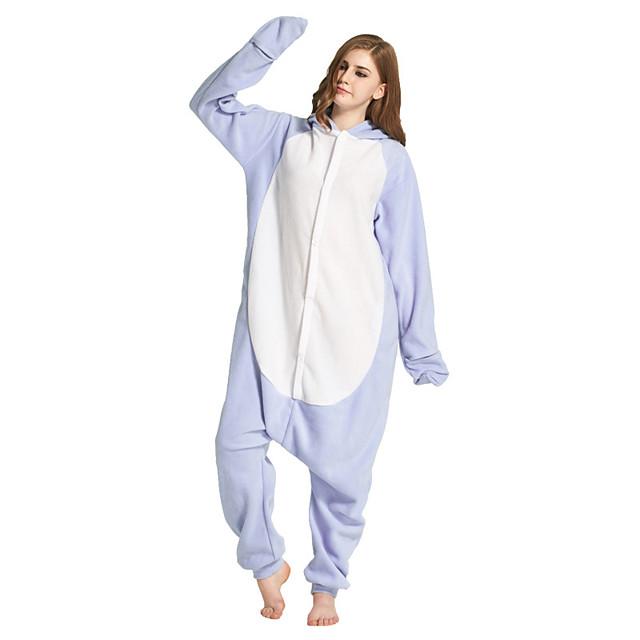 Adults' Kigurumi Pajamas Shark Onesie Pajamas Flannelette Light Blue Cosplay For Men and Women Animal Sleepwear Cartoon Festival / Holiday Costumes