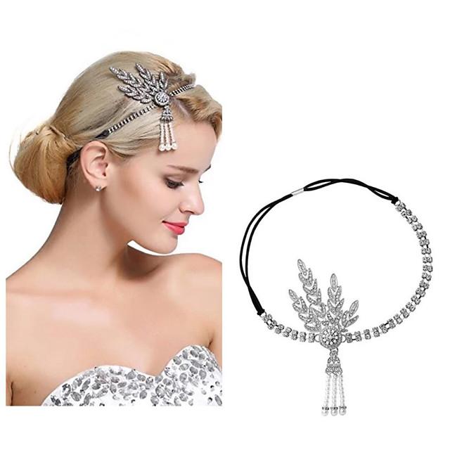 The Great Gatsby Charleston 1920s Vintage Inspired The Great Gatsby Headpiece Flapper Headband Women's Tassel Costume Head Jewelry Black / Golden / White Vintage Cosplay / Headwear / Headwear