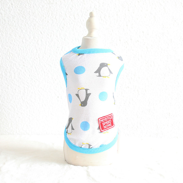 Dog Costume Vest Dog Clothes Breathable Yellow Light Blue Costume Beagle Bichon Frise Chihuahua Cotton Character Fruit Casual / Sporty Cute XS S M L XL