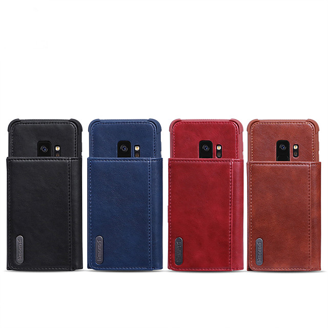 Case For Samsung Galaxy S9 / S9 Plus / Note 9 Wallet / Card Holder / Shockproof Back Cover Solid Colored PU Leather
