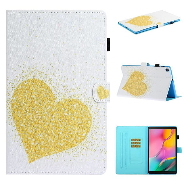 Case For Samsung Galaxy Tab A2 10.5(2018) / Samsung Tab A 10.1(2019)T510 / Samsung Tab A 8.0(2019)T290/295 Card Holder / with Stand / Flip Full Body Cases Heart PU Leather For Galaxy T720