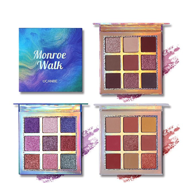 9 Colors Eyeshadow Matte Eye EyeShadow Cream Kits Easy to Carry Easy to Use lasting Shimmer glitter gloss Long Lasting water-resistant Daily Makeup Halloween Makeup Party Makeup Cosmetic Gift