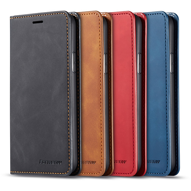 Case For OnePlus one plus 7T / one plus 7T Pro Card Holder / Shockproof Full Body Cases Solid Colored PU Leather