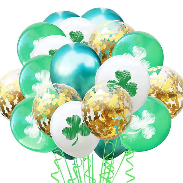 St Patrick's Day Pride Lucky Clover Balloon Irish Pub Decoration 1pc