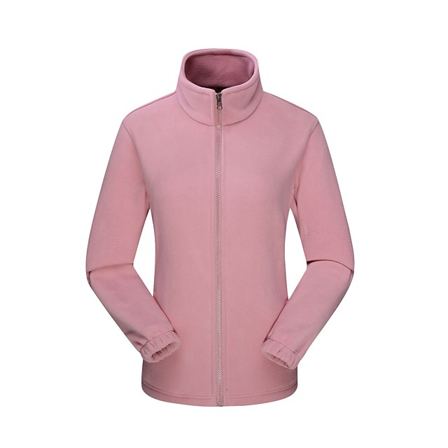 Women's Hiking Fleece Jacket Winter Outdoor Solid Color Windproof Fleece Lining Warm Comfortable Jacket Winter Fleece Jacket Top Fleece Single Slider Climbing Camping / Hiking / Caving Winter Sports