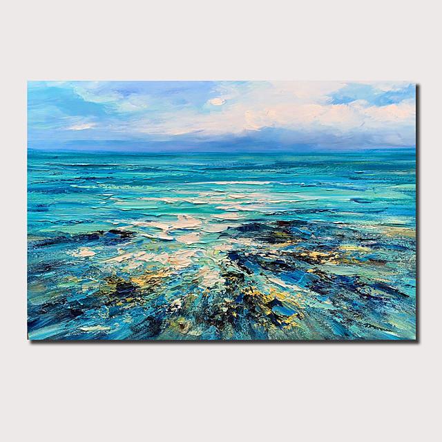 Pintura al óleo pintada a mano paisaje abstracto contemporáneo moderno lienzo estirado con marco estirado o enrollado sin marco
