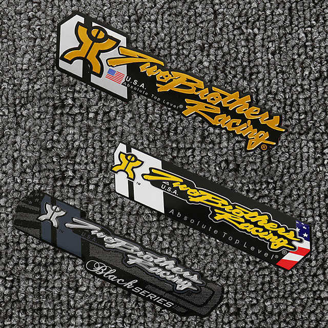 3D Aluminum Heat-resistant Motorcycle Exhaust Pipe Decal Sticker for Two Brother Racing 3PCS Whole Sale