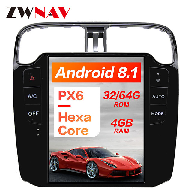 ZWNAV 10.4 Inch 1Din Android 8.1 4GB 64GB Tesla style Car GPS Navigation Auto stereo radio tape recorder In-Dash Car DVD Player Car multimedia Player For Volkswagen/VW Polo 2012-2020