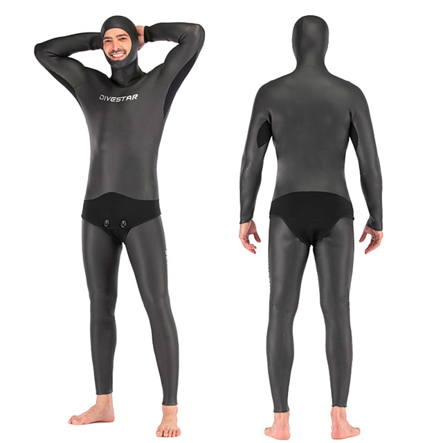 DIVESTAR Men's Full Wetsuit 3mm SCR Neoprene Diving Suit Thermal / Warm Quick Dry Stretchy Long Sleeve 2-Piece - Diving Water Sports Solid Colored Autumn / Fall Spring Summer / High Elasticity