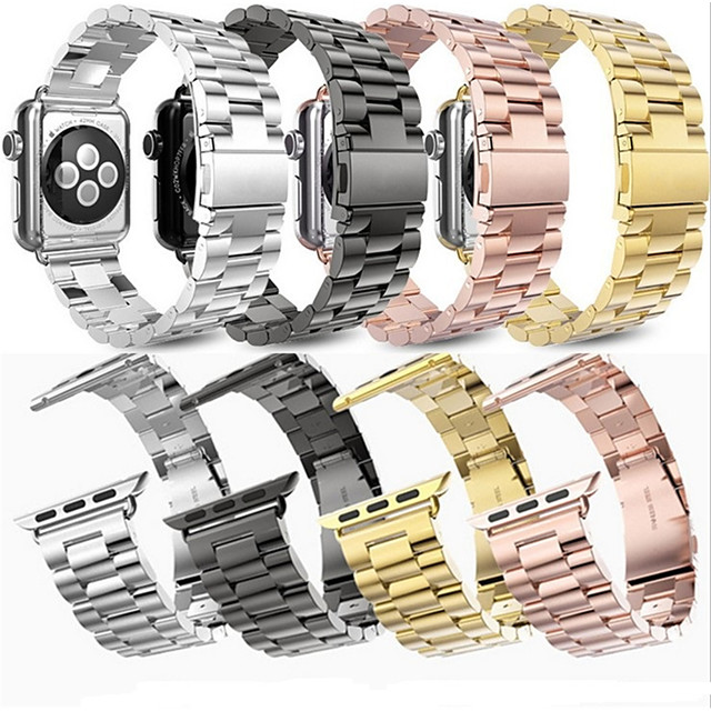 Watch Band for Apple Watch Series 5/4/3/2/1 Apple Classic Buckle / Business Band Sport Business Bands High-end Fashion Health Stainless Stee