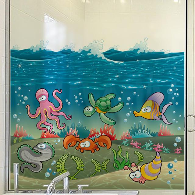 Cartoon Fish Window Film & Stickers Decoration Matte / Cartoon Animals / Character PVC(PolyVinyl Chloride) Window Sticker / Matte / Cute