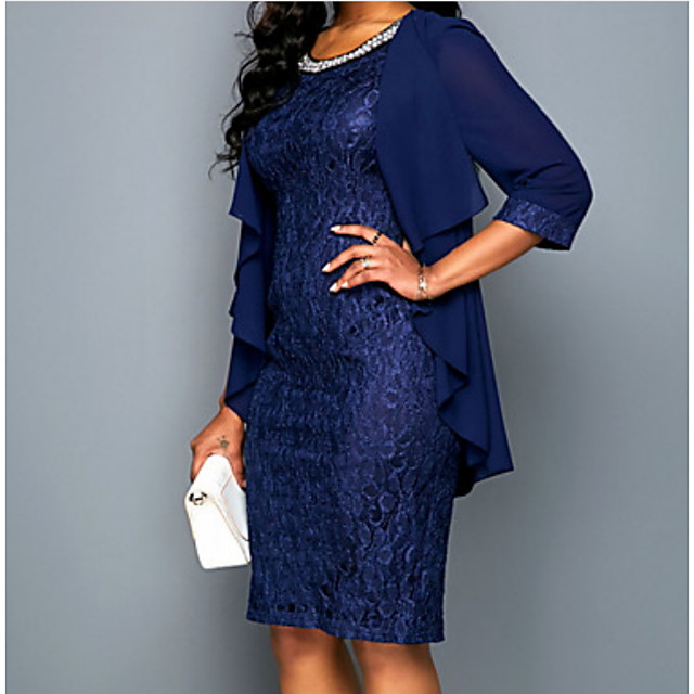 3/4 Length Sleeve Coats / Jackets Chiffon Wedding Women's Wrap With Lace / Ruching / Ruffles