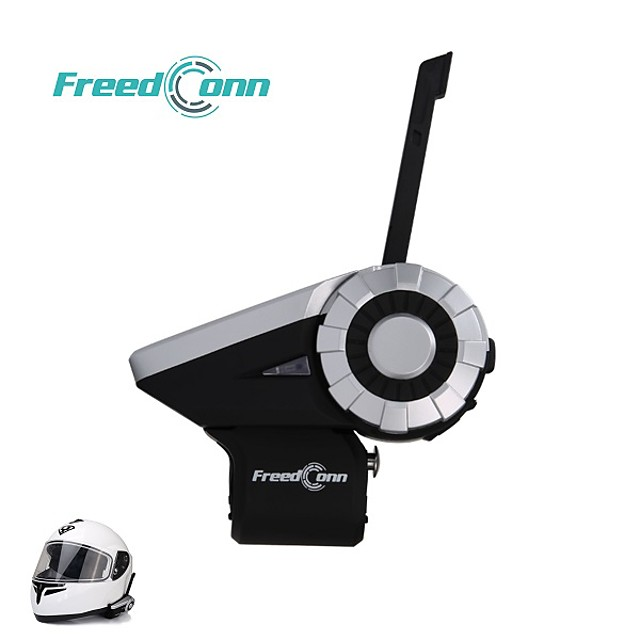 Freedconn T-REX motorcycle team speaks to 8 buleoth driver intercom headphones at 1500m.Complimentary remote control L3