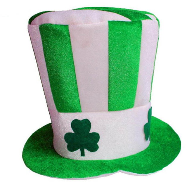 St Patrick's Day Pride Lucky Clover Hat Decorative Holiday Sell Irish Pub DecorForest Green 1pc