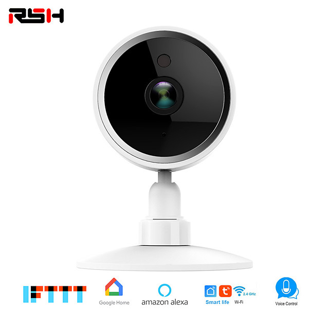 RSH Home Security Wireless IP Camera with Alexa, Wide Angle Lens, Two-Way Audio, Night Vision and Indoor Motion Detection