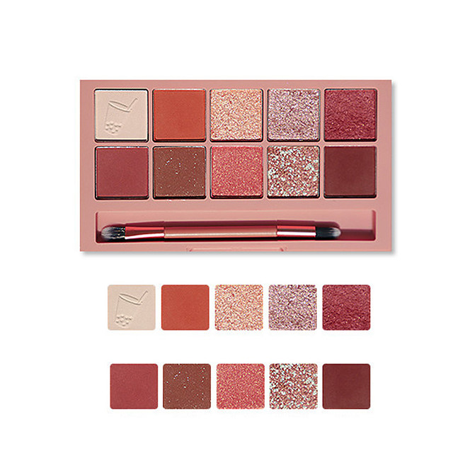 10 Colors Eyeshadow Eyeshadow Palette Matte Cosmetic EyeShadow Face Easy to Carry Women Best Quality Pro Ultra Light (UL) Girlfriend Gift Safety Convenient Daily Makeup Halloween Makeup Party Makeup