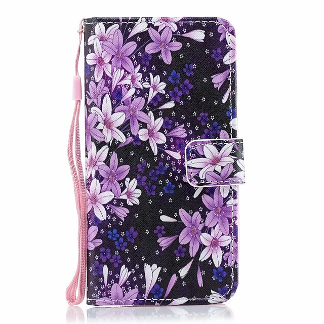 Case For Samsung Galaxy Galaxy A10(2019) / Galaxy A30(2019) / Galaxy A50(2019) Card Holder / with Stand / Flip Full Body Cases Solid Colored / Flower PU Leather
