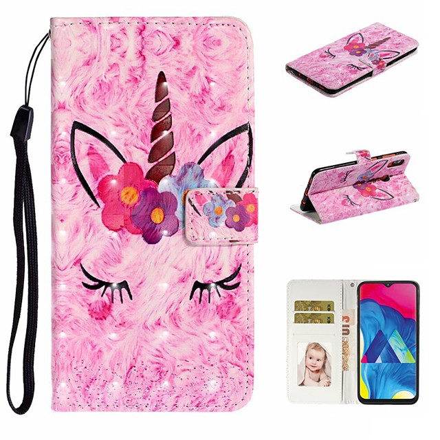 Case For Samsung Galaxy A10/A30/A50 Wallet / Card Holder / with Stand Full Body Cases Animal PU Leather For Galaxy M10/A20/A40/A70/A80/A90/A20E