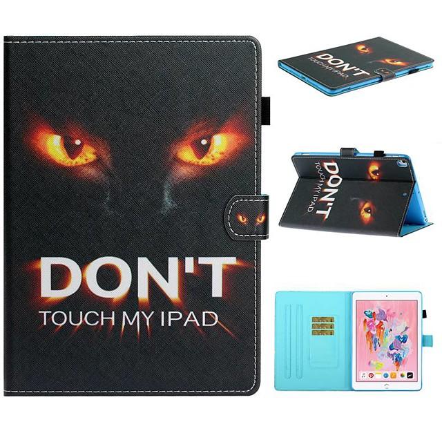 Case For Apple iPad Air / iPad (2018) / iPad 10.2''(2019) Card Holder / with Stand / Flip Full Body Cases Word / Phrase PU Leather For iPad Pro 10.5/iPad Air 2/iPad 2017