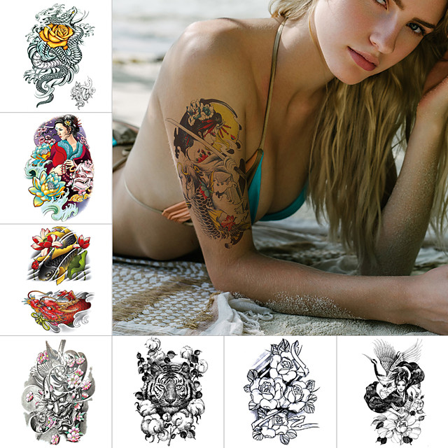 1 pcs Temporary Tattoos Water Resistant / Waterproof / Safety / Best Quality Face / Body / Hand Water-Transfer Sticker Body Painting Colors