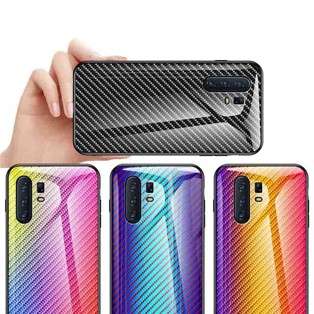 Case For Vivo Vivo Y67 / Vivo X20 Plus / Vivo X20 Shockproof / Dustproof / Ultra-thin Back Cover Color Gradient Carbon Fiber