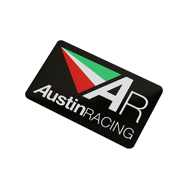 3D Aluminum Heat-resistant Motorcycle Exhaust Pipe Decal Sticker for AustinRACING 5PCS Whole Sale