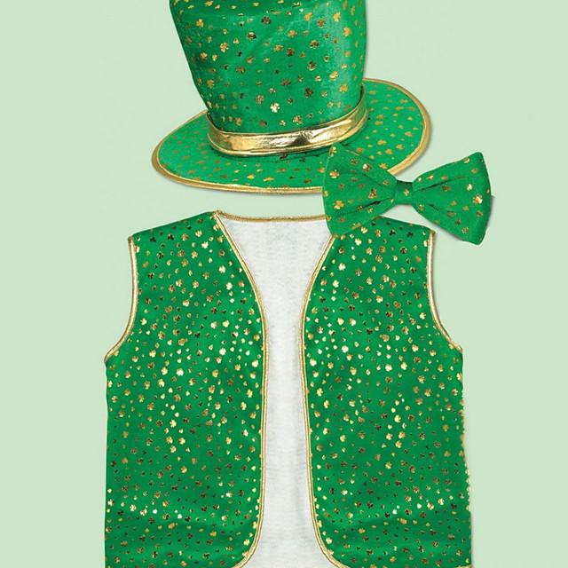 Kiss Irish Green Velour Party Cosplay ST Patrick's day Pride Costume Full Set