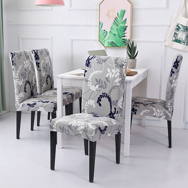 Chair Cover Floral / Romantic Printed Polyester Slipcovers