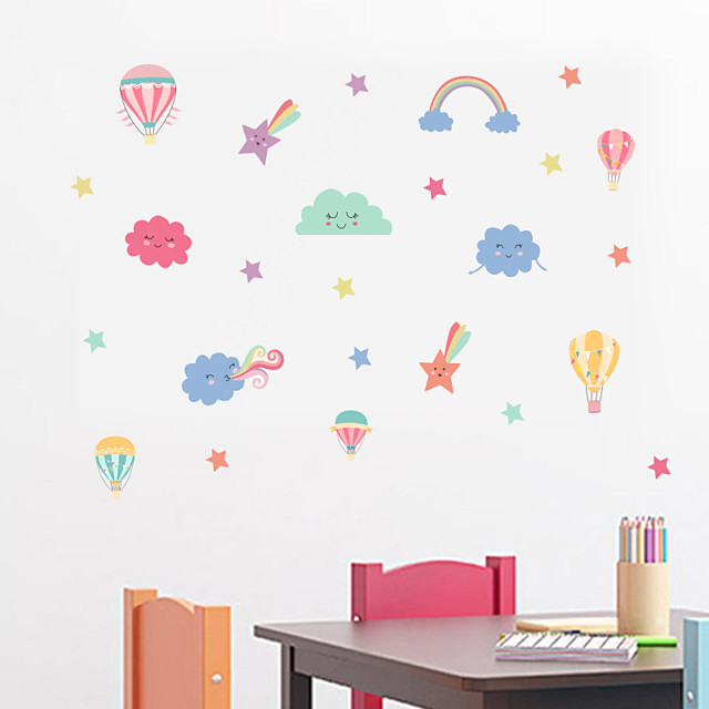 Decorative Wall Stickers - Plane Wall Stickers Stars Sun Cloud  Nursery / Kids Room
