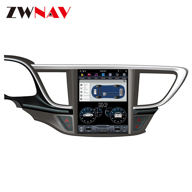 ZWNAV Android 8.1 10.4 inch Tesla style 1Din 4GB 32GB Car radio tape recorder head unit Car GPS Navigation In-Dash Car DVD Player multimedia player For Buick Hideo 2015-2018