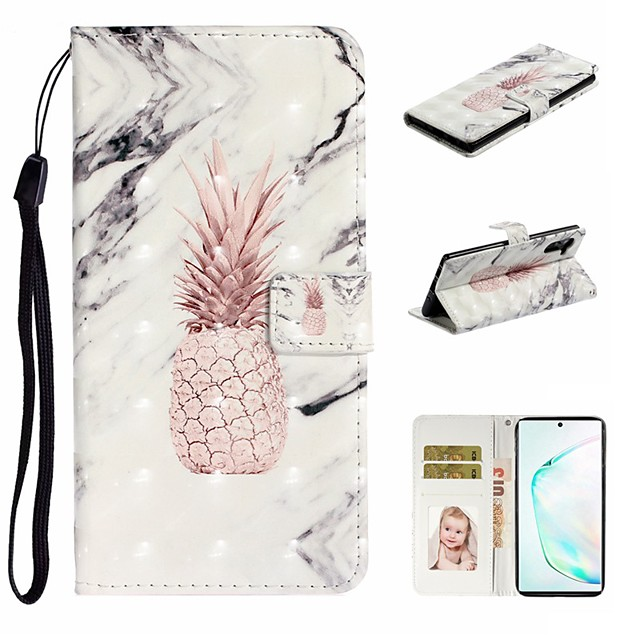 Case For Samsung Galaxy A6 (2018)/A7(2018) / A8 2018 Wallet / Card Holder / with Stand Full Body Cases Marble PU Leather For Galaxy A10S/A20S/A30S/A50S/Note 10 Plus/J6 Plus/J4 Plus/Note 10