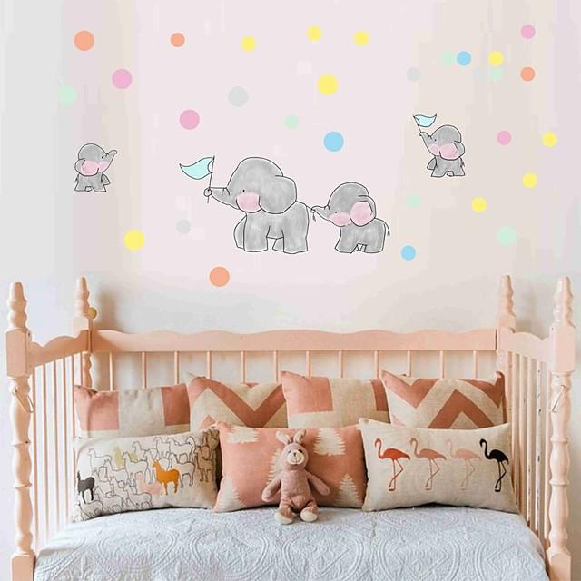 Decorative Wall Stickers - Plane Wall Stickers Animals / Hearts Nursery / Kids Room