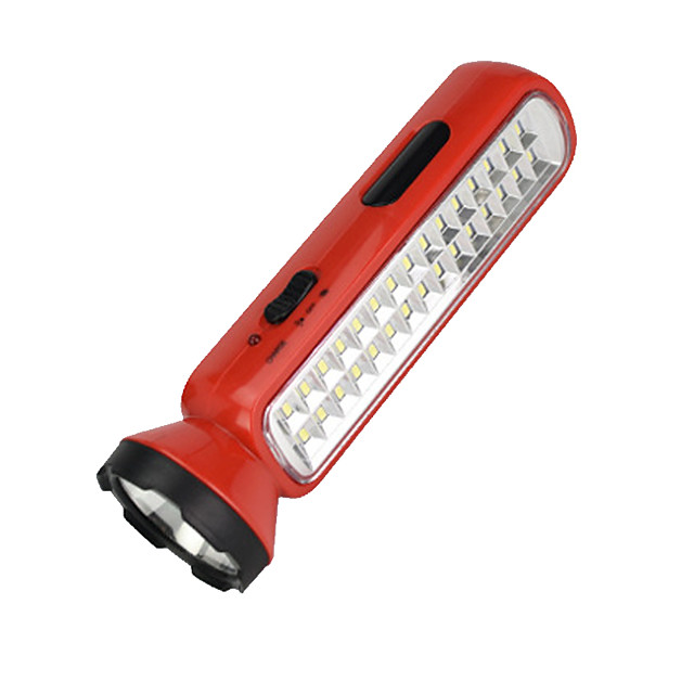 LED Flashlights / Torch 100 lm LED LED 30 Emitters Portable Camping / Hiking / Caving Everyday Use Cycling / Bike Yellow Red