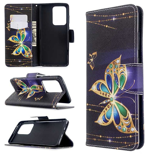 Case For Samsung Galaxy S20 Ultra / S20 Plus / S10 Plus Wallet / Card Holder / with Stand Full Body Cases Butterfly PU Leather Case For Samsung S9 / S9 Plus / S8 Plus / S10E /S7 Edge