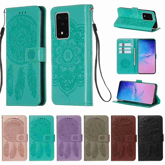 Case For Samsung Galaxy S20 / S20 Plus / S20 Ultra Wallet / Card Holder / with Stand Full Body Cases Solid Colored PU Leather / TPU for A50(2019) / A40(2019) / A30(2019) / Note 10 Pro