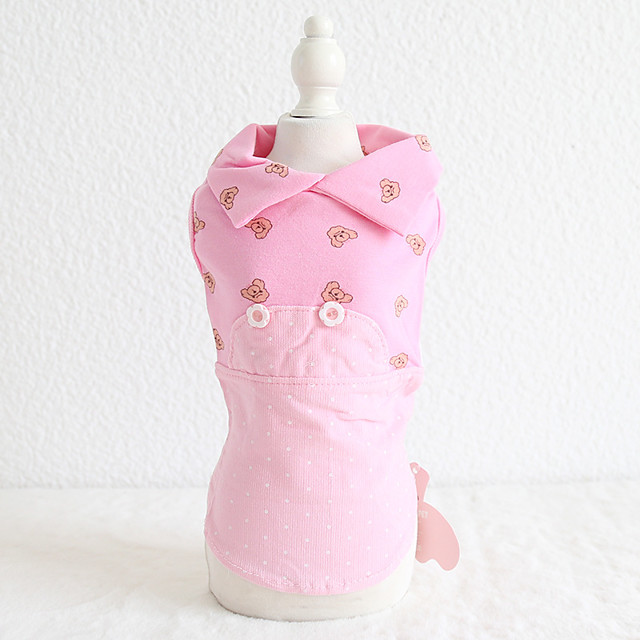 Dog Costume Dress Dog Clothes Breathable Rose Gold Yellow Blue Wedding Costume Beagle Bichon Frise Chihuahua Cotton Character Embroidered Love Casual / Sporty Cute XS S M L XL