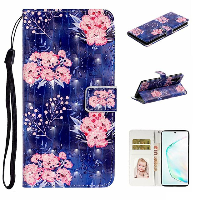 Case For Samsung Galaxy A6 (2018)/A7(2018) / A8 2018 Wallet / Card Holder / with Stand Full Body Cases Flower PU Leather For Galaxy A10S/A20S/A30S/A50S/Note 10 Plus/J6 Plus/J4 Plus/Note 10