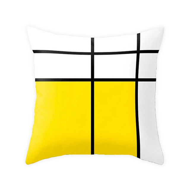 1 pcs Polyester Pillow Cover Modern SimplePlaid Geometric Striped Cute SOFA Pillow Case