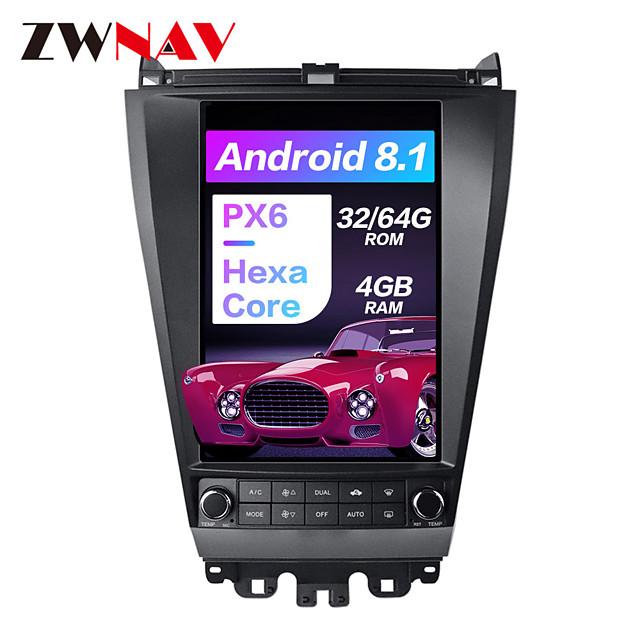 ZWNAV PX6 Android 8.1 12.1 inch 4GB 32GB multimedia Player head unit radio tape recorder radio DSP Tesla style Car GPS navigation In-Dash Car DVD Player For Honda Accord 7 2003-2007