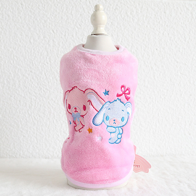 Dog Costume Vest Rabbit Dog Clothes Breathable Purple Blue Pink Costume Beagle Bichon Frise Chihuahua Flannel Fabric Cotton Quotes & Sayings Character Rabbit / Bunny Casual / Sporty Cute XS S M L XL