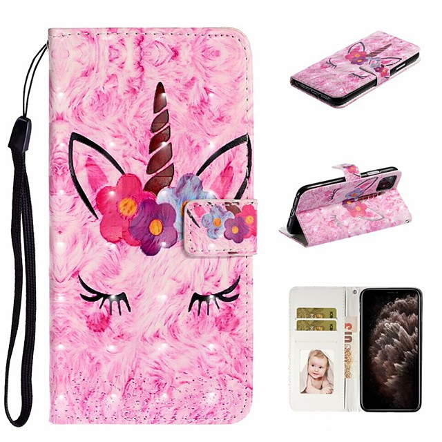 Case For Apple iPhone 11 / iPhone 11 Pro / iPhone 11 Pro Max Wallet / Card Holder / with Stand Full Body Cases Animal PU Leather For iPhone XS Max/XS/XR/X/8 Plus/7/6/6s Plus/5/5S/SE