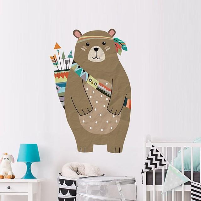 Bear Decorative Wall Stickers - Plane Wall Stickers Animals Nursery / Kids Room