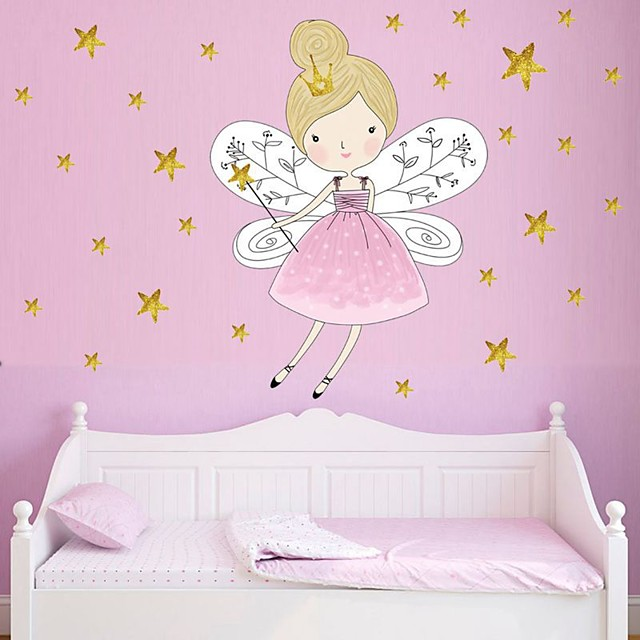 Decorative Wall Stickers - Plane Wall Stickers Princess / Fairies /  Stars Nursery / Kids Room