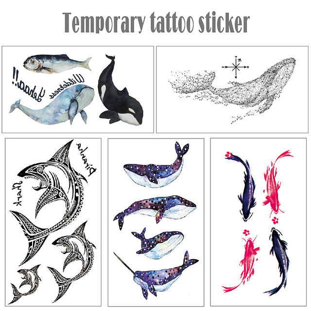5 pcs Temporary Tattoos Water Resistant / Waterproof / Mini Style / Safety Face / Body / Hand Water-Transfer Sticker Body Painting Colors