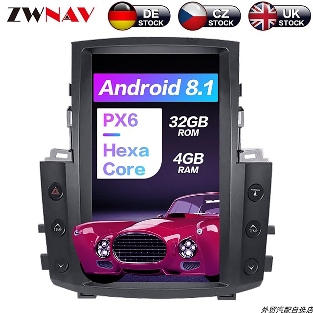 Tesla style 13.5 inch 1Din 4GB 32GB Android 8.1 HD Car GPS Navigation In-Dash Car DVD Player radio tape recorder head unit multimedia player For Lexus LX570 2007-2015