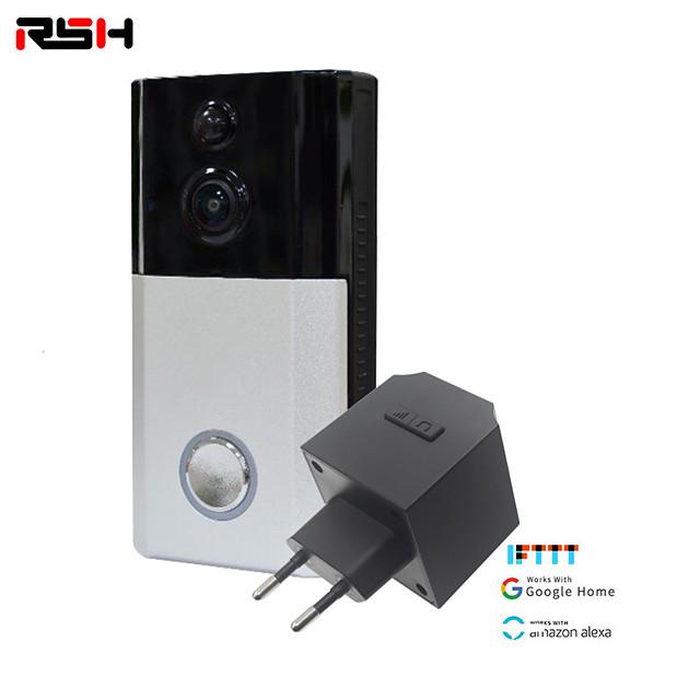 RSH Smart Doorbell Camera Wireless Wifi Video Intercom Doorbell Video Call Apartment Infrared Alarm Wireless Color Lens Security