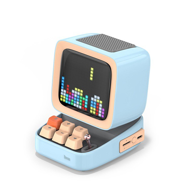 Divoom Ditoo Retro Pixel art Bluetooth Portable Speaker Alarm Clock DIY LED Screen By APP Electronic Gadget gift Home decoration