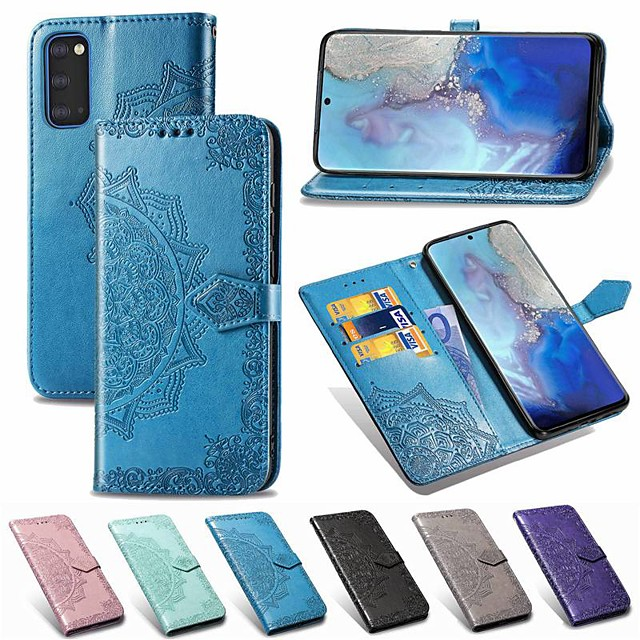 Case For Samsung Galaxy Note 10/Note 10 Plus/A30s Wallet / Card Holder / with Stand Full Body Cases Solid Colored / Flower PU Leather For Galaxy A20S/S20/S20 Plus/S20 Ultra/A51/A71/A81/A91
